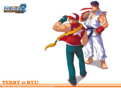 SNK vs Capcom: Card Fighters 2 Wallpaper (Terry & Ryu)