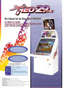 Super NEO 29 Type II cabinet flyer