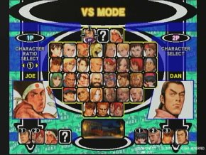 Capcom Vs SNK Pro Select Screen
