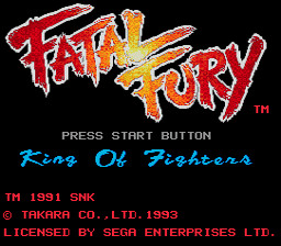 Fatal Fury for MD/Genesis Title