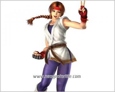 KOF Maximum Impact Wallpaper  - Yuri Sakazaki