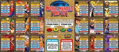 World Heroes Perfect Moves Sheet