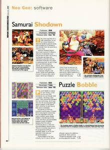 Edge Special Autumn 1995 - Mini Reviews - Samurai Shodown and Puzzle Bobble