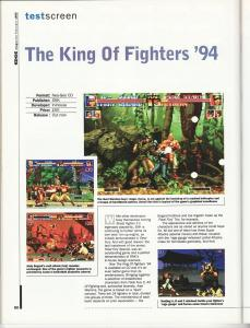 Edge February 1995 - KOF '94 Neo CD Review Page 1
