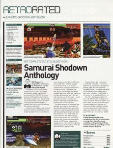 RetroGamer Magazine - Samurai Shodown Anthology Wii Review