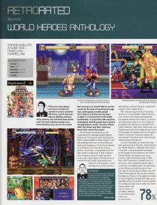 RetroGamer Magazine - World Heroes Anthology PS2 Review