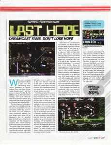 Games Magazine - Last Hope DC Review