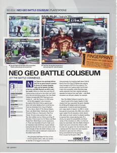 Neo-Geo Battle Coliseum PS2 Review